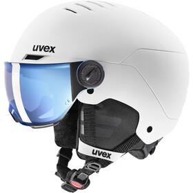 UVEX Rocket Visor Hjelm Børn, hvid/sort